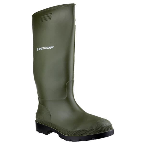 Dunlop Pricemastor Plain Rubber Wellingtons Green